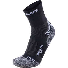 UYN Winter Pro Run Chaussettes Homme, black/pearl grey